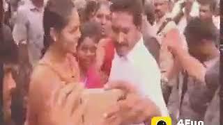A girl kiss to ys Jagan Mohan Reddy