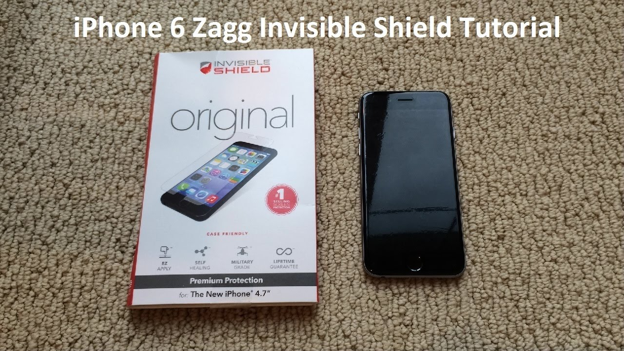 premium selection 49ea0 f4cda Tutorial: iPhone 6 Zagg Invisible Shield