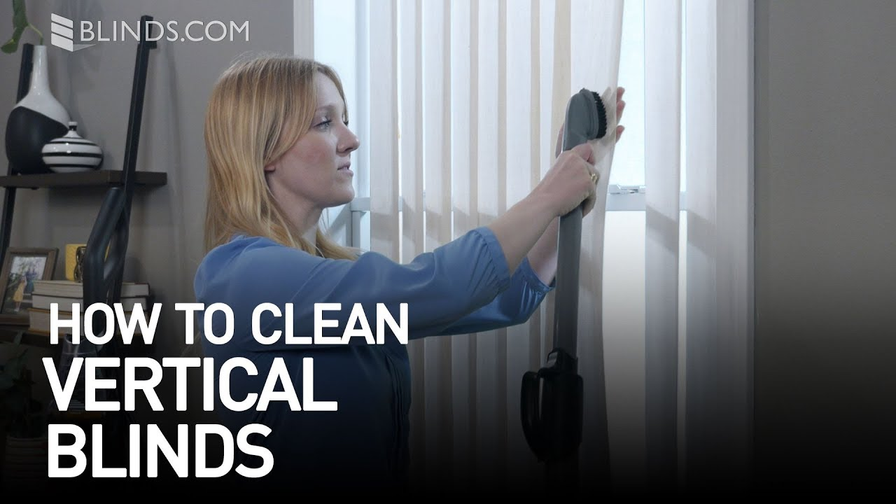 How To Clean Vertical Blinds Blindscom Youtube