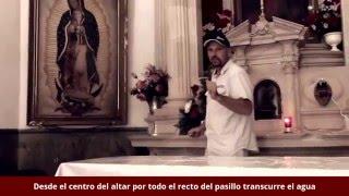 Vena de Agua en el altar de la Iglesia de San Lorenzo en Buenaventura, Chihuahua