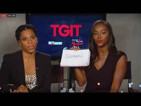 Grey's Anatomy's Kelly McCreary and HTGAWM's Aja Naomi King LIVE on Facebook