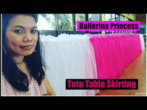 Tutu Princess Table Skirting – Ballerina Birthday Theme