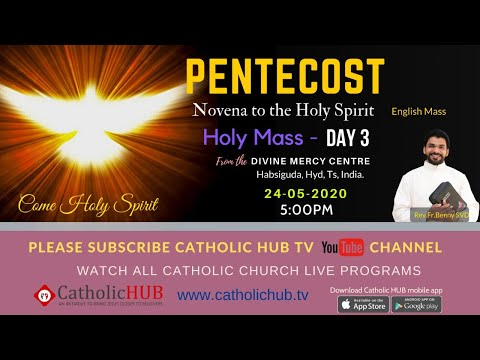 PENTECOST NOVENA HOLY MASS |THEME: GIFT OF PROPHECY & PEACE| DAY 3 | REV.FR.BENNY |24-05-2020