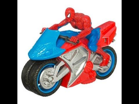 Spiderman motorcycle toys for kids spiderman motorbike toy youtube - Spider man moto ...