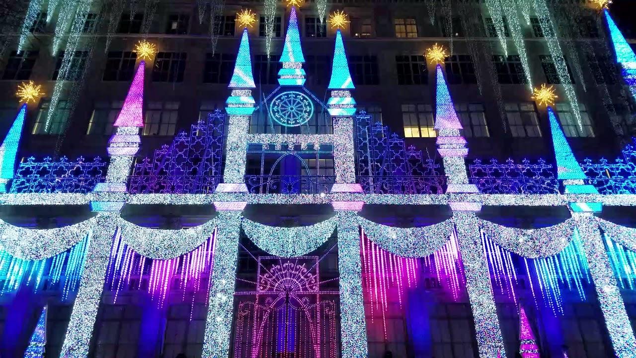 Saks Fifth Avenue Light Show 2017 Saks Fifth Avenue Holiday Window Light  Show 2017 Youtube .