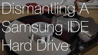 Dismantling an 80GB Samsung IDE Hard Drive | IMNC