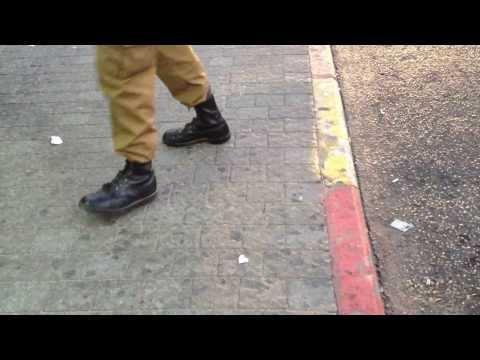 israel soldier random dancing in the bus station