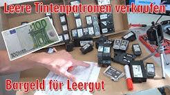 Leere Tintenpatronen verkaufen - Bargeld für Leergut - Druckerpatronen HP Canon Epson Brother - [4K]