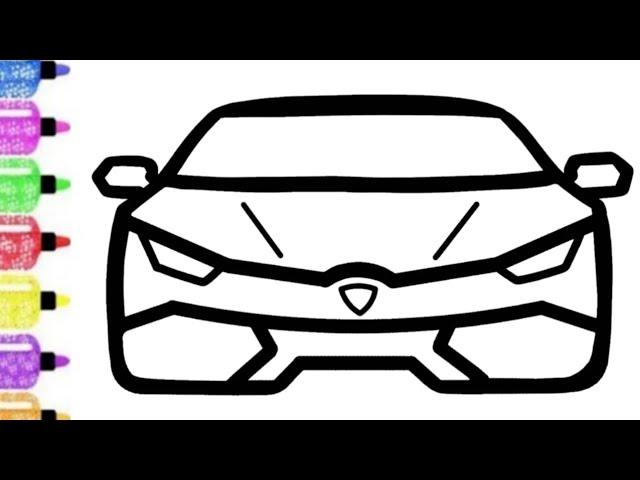 Belajar Menggambar Mobil Super Car Lamborghini Youtube