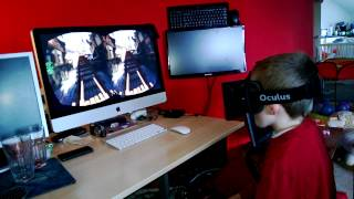 My kids ride the EPIC Citadel Roller Coaster with the Oculus Rift