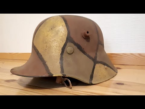 How to camouflage your world war 1 Stahlhelm