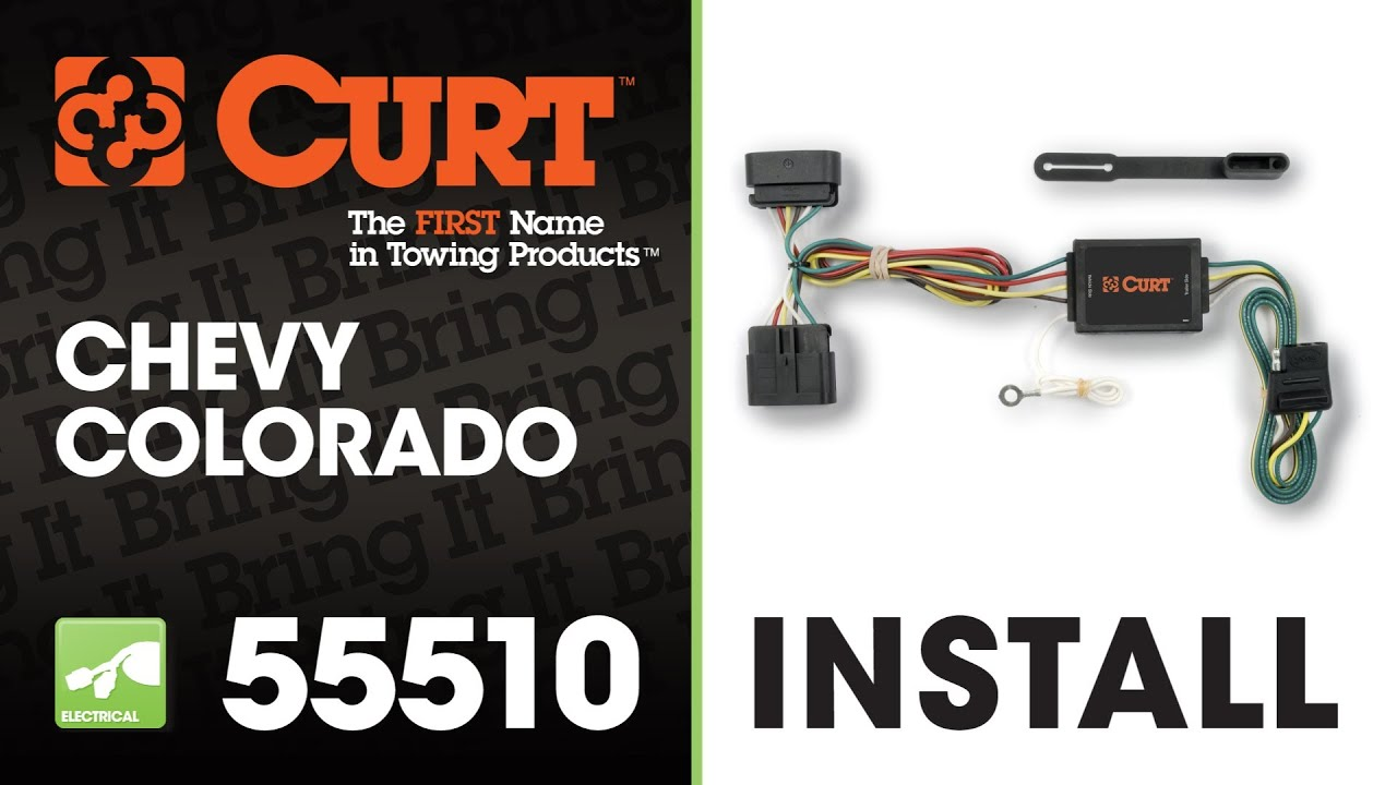 medium resolution of trailer wiring install curt 55510 on 2004 chevrolet colorado