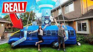 We bought a REAL Fortnite Battle Bus!