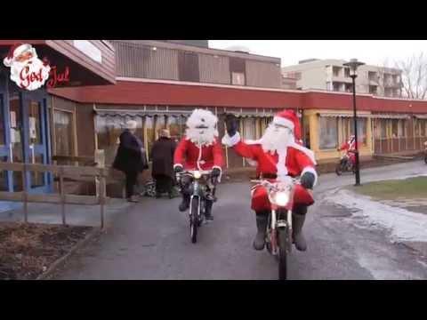 Jultomtar på mopeder i Bollnäs