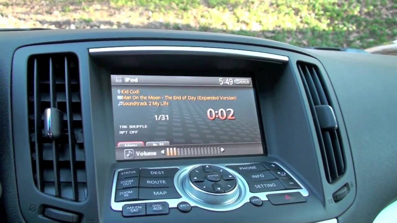 Ipod iphone integration infiniti youtube vanachro Choice Image