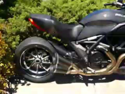 2011 ducati diavel carbon termignoni exhaust - youtube