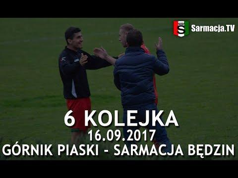 6 kolejka, Górnik Piaski - Sarmacja Będzin, 16.09.2017 r. (bramki)