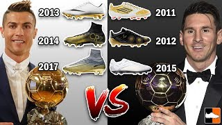 Ronaldo vs Messi who has the Best Ballon d'Or Boots?