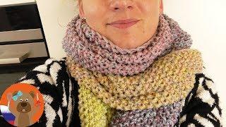 Вяжем шарф XXL крючком | Весенний шарф с градиентом | Вязание для начинающих