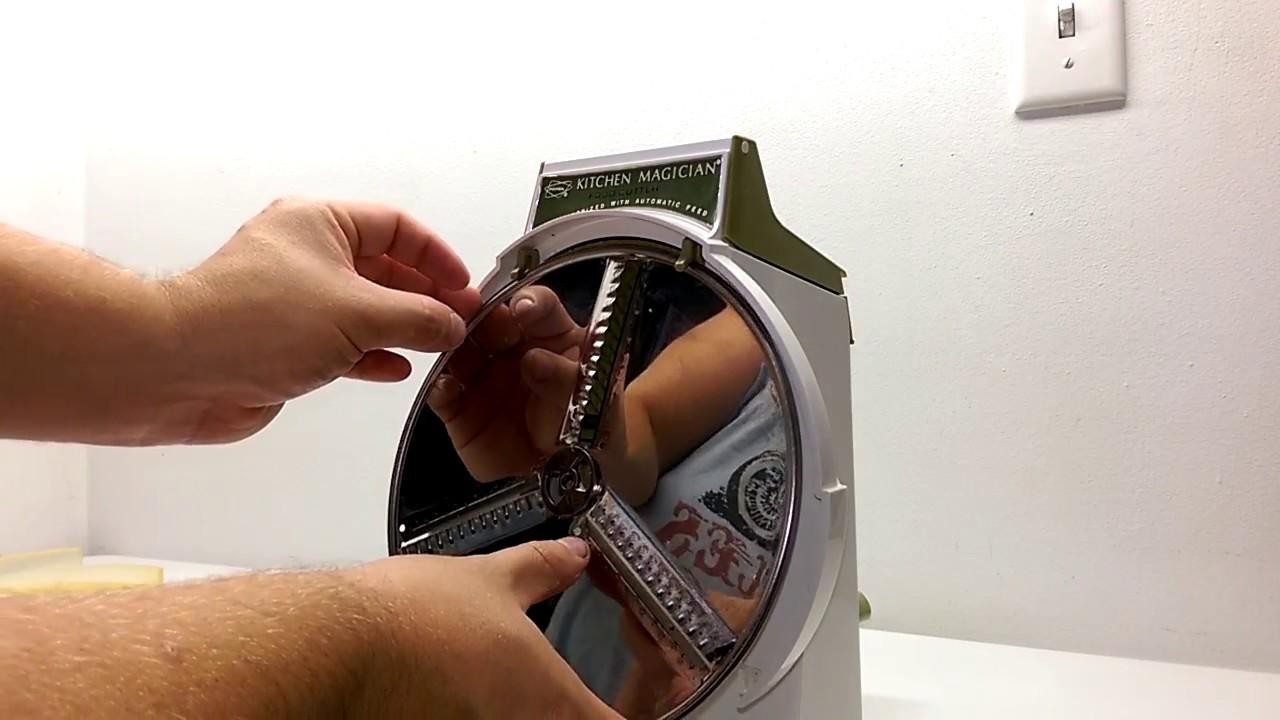 Kitchen Magician Trash Can Popeil S Food Cutter 70s Slicer Processor Shredder