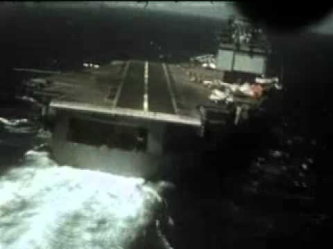 Aircraft carrier landing -- pilot's view - YouTube