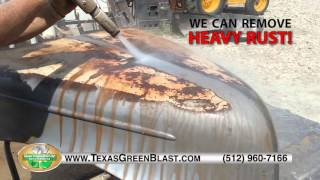 Texas Green Blast Services Demo Video - Central Texas Dustless Blasting