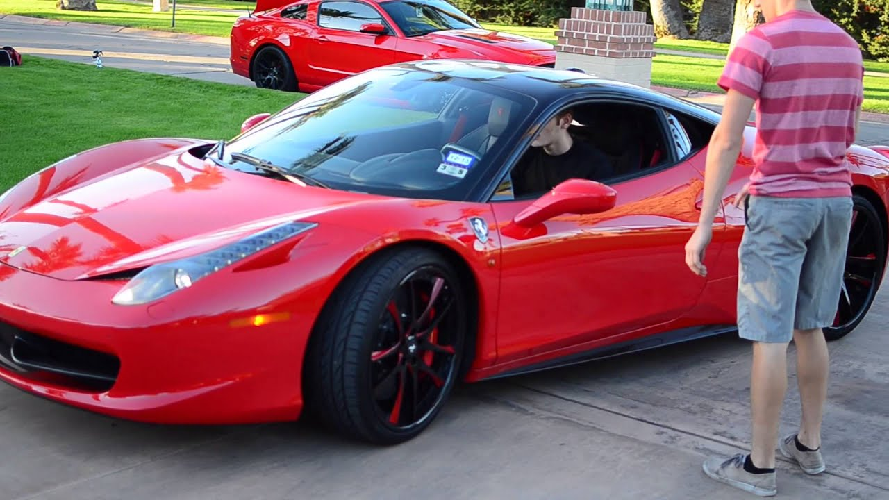 17 Year Old Drives And Photographs Custom 2014 Ferrari 458
