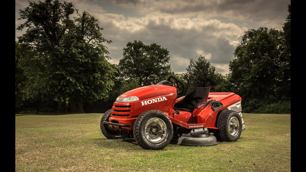 Lawn Tractor Honda : Honda mean mower lawn tractor youtube