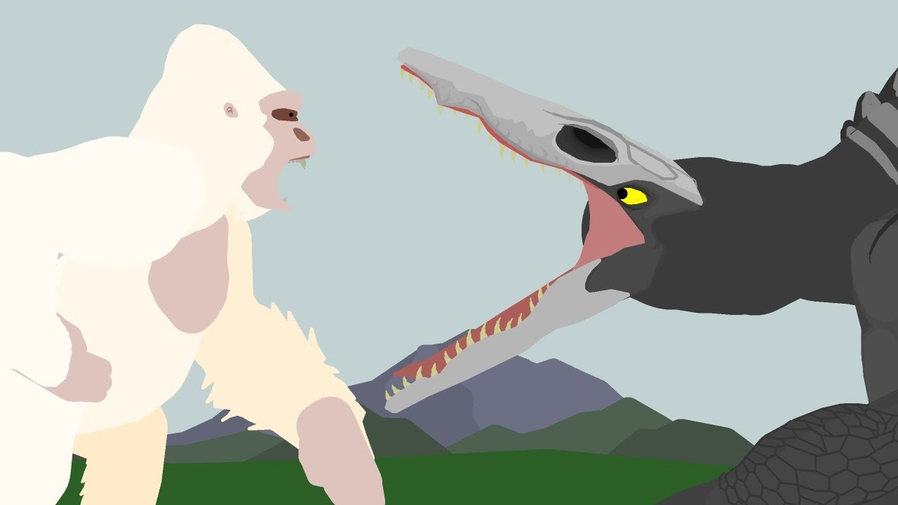 George vs Skull Crawler     EPIC BATTLE     Monsterverse vs Rampage