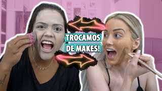 TROCAMOS AS MAQUIAGENS! Ft. CAMILA LOURES