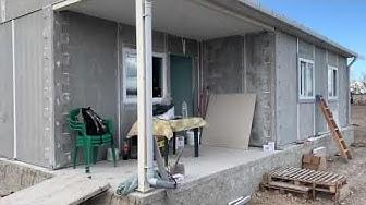 """""""Обиколко отвън, преди боядисване, сглобяеми къщи 2%"""""""