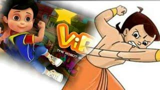 Chota Bheem vs Vir the Robot boy how to draw