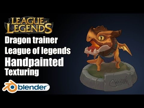 Handpainted Texture/Texturing in Blender - League of Legends Tristana Dragon GAME ART