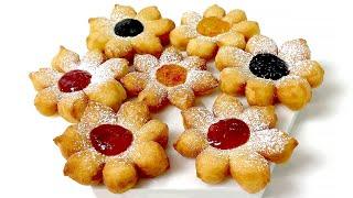 피어나는 식 플라워 퍼프 페이스트리  •  꽃 도넛  …