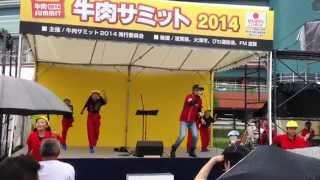 牛肉サミット2014で披露された「ぼくらのヒーロー」キッズダンサーの振...