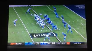 dez bryant throws a td pass vs the lions