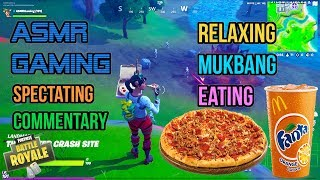 ASMR Gaming ???? Fortnite Mukbang Eating Sausage Pepperoni Pizza Commentary 먹방 ???????? Relaxing ????????