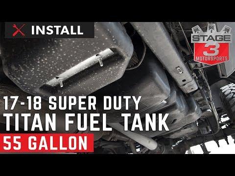 2017-2018 F250 & F350 6.7L Titan Generation 6 Fuel Tank Install