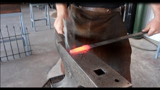 Blacksmithing for Beginners - Forging Lesson #1: drawing/drawing out