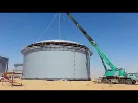 Dome Roof Installation (By - Al Zamil Metal)