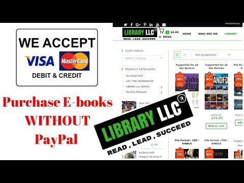 library LLC pay with debit or credit card - Purchase E-books WITHOUT PayPal
