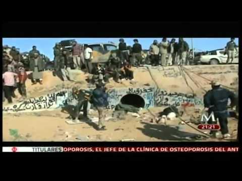 Muerte de Muamar el Gadafi (1942-2011)  en Sirte, Libia el 20 octubre 2011.