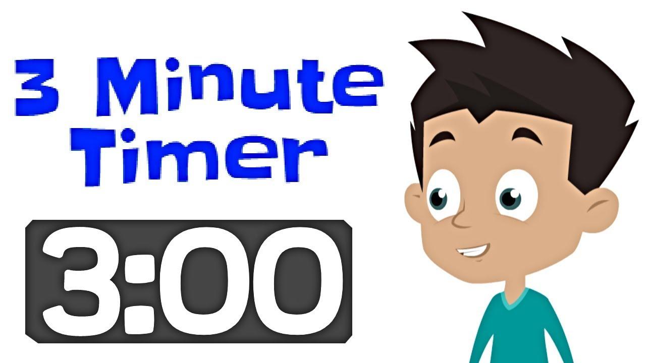 3 minute timer for kids