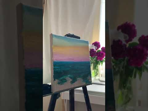 Abstract landscape Oil painting Tutorial Timelapse