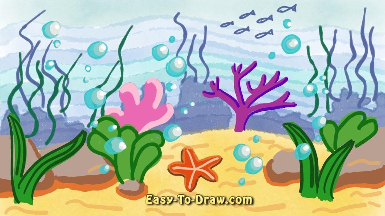 Landscape Drawing Ocean