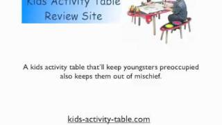 See How  A Kids Activity Table Can Help Your Son Interact