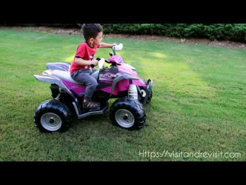 Unboxing Peg Perego Polaris Outlaw Pink 12 Volt Ride On