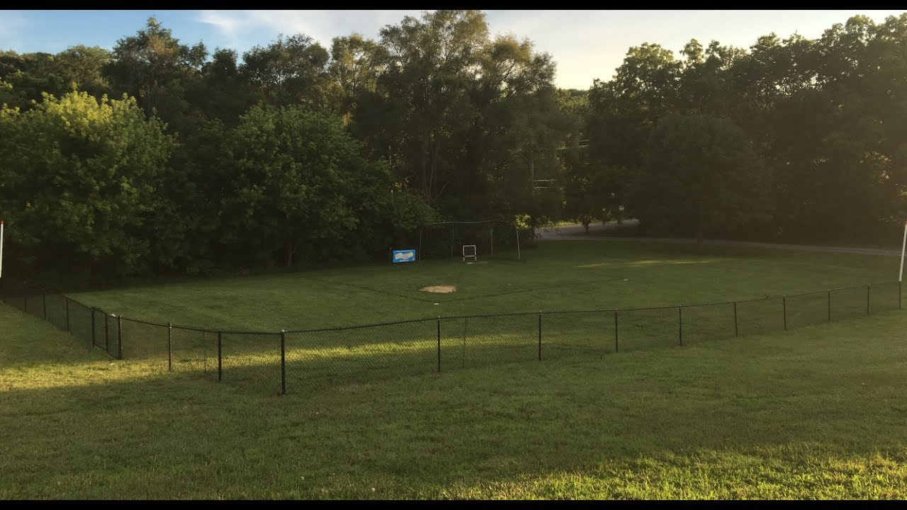 Building and Setting up Wiffle Ball Field of Dreams - YouTube