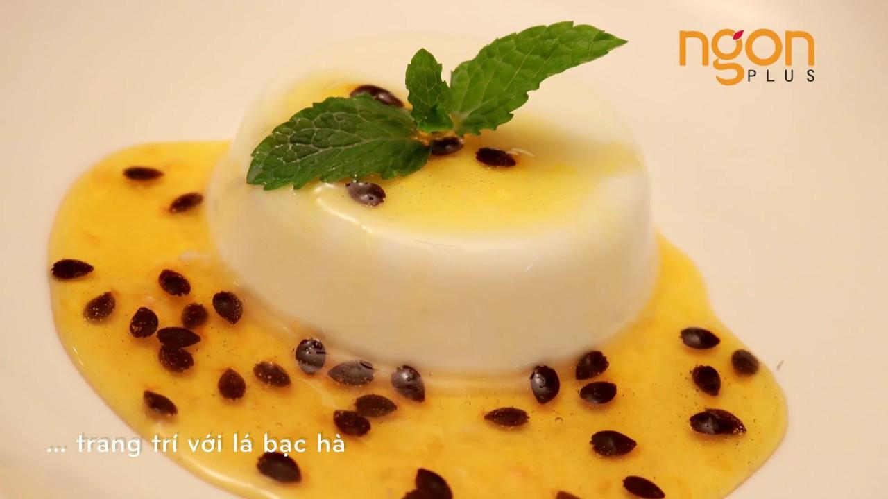 Cách làm Panna cotta sốt chanh dây ngon nhất    Passion fruit panna cotta   Món ngon dễ làm