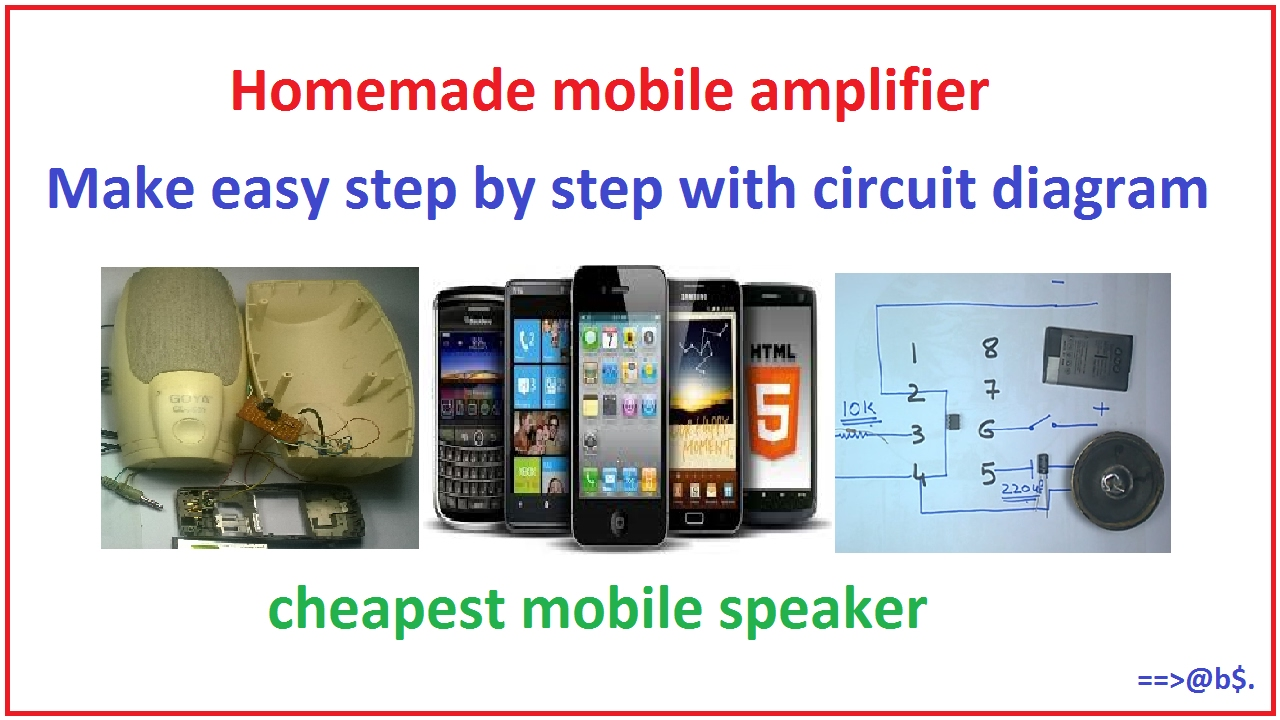 How To Make Lm386 Audio Amplifier Circuit For Mobile At Home Easy Diagram Step By